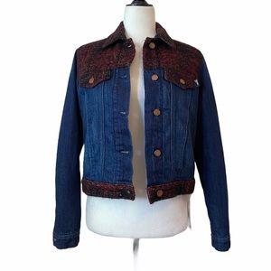 Love Moschino Padded Tweed Denim Jacket